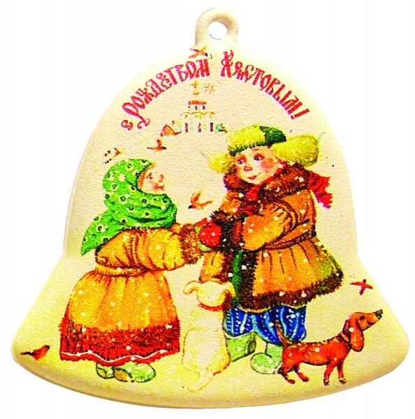 """Магнит-колокольчик, мягкий из серии """"С Рождеством Христовым"""""""