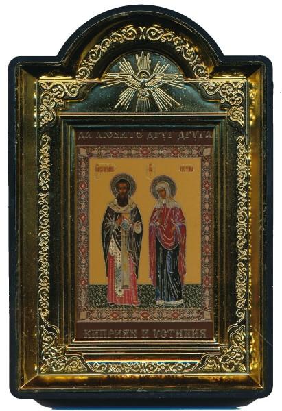 """Икона """"Священномученик Киприан и мученица Иустина"""""""