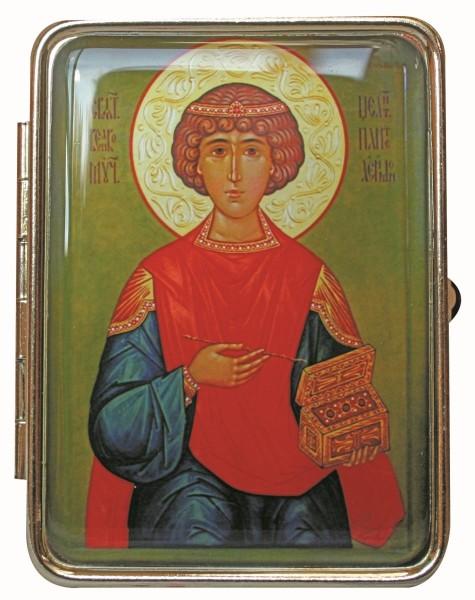 Таблетница с ликом святого, Великомученик Пантелеимон