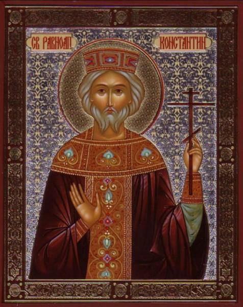 Икона Святой равноапостольный царь Константин