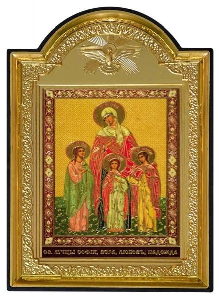 """Икона """"Святые мученицы Вера, Надежда, Любовь и мать их София"""""""