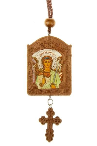 """Икона на подвеске в автомобиль """"Святой Христофор - Ангел Хранитель"""""""