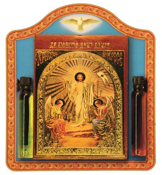 """Икона """"Воскресение Христово"""" с елеем и маслом"""