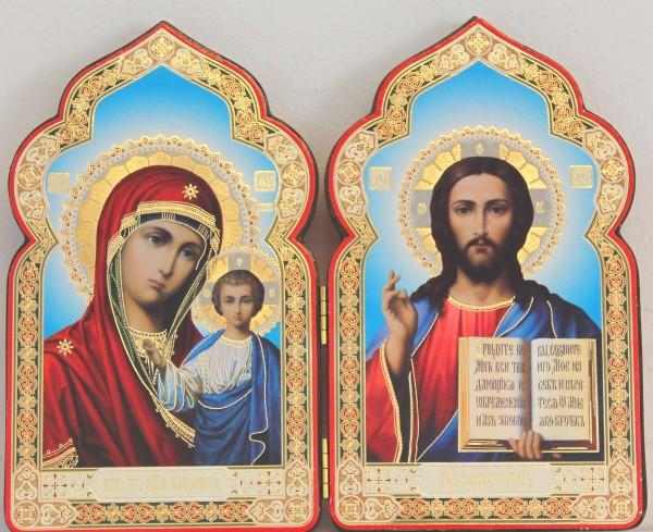Икона Божией Матери Казанская и Вседержитель