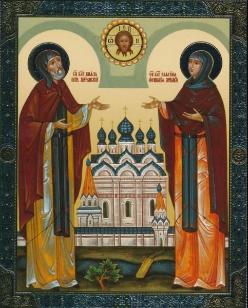 Икона Святые преподобные Петр и Феврония