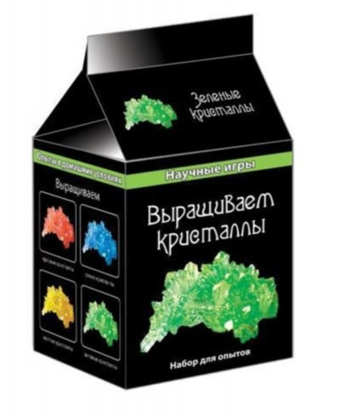 Набор для опытов. Зеленые кристаллы