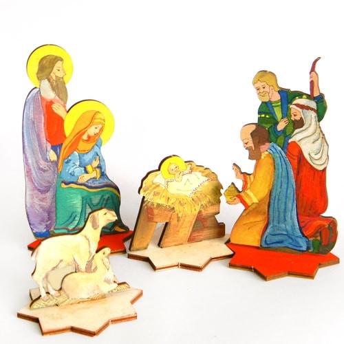 Рождественский сувенир - вертеп для раскрашивания