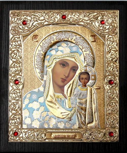 Икона Божией Матери в золотом окладе