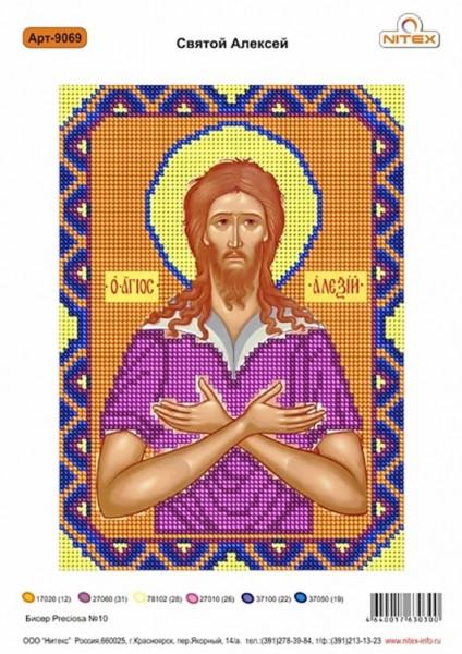 """Рисунок на канве """"Святой Алексий"""""""