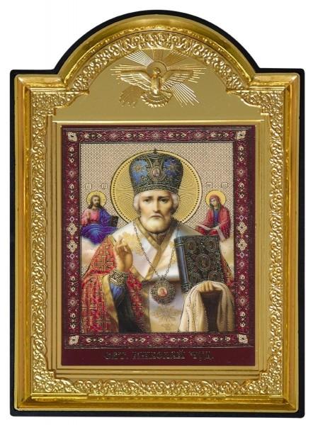 """Икона с молитвой """"Николай Чудотворец"""""""