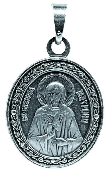 Именная нательная икона Матрона