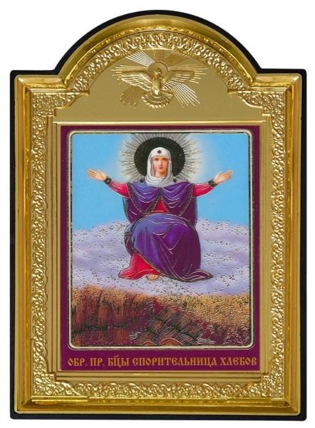 """Икона Божией Матери с молитвой """"Спорительница хлебов"""""""