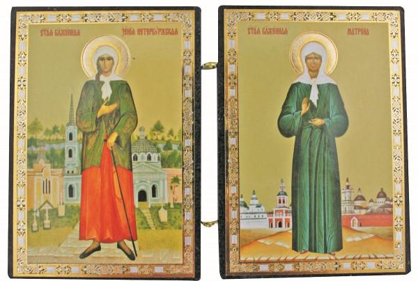 Икона Ксении Петербургской и Матроны Московской