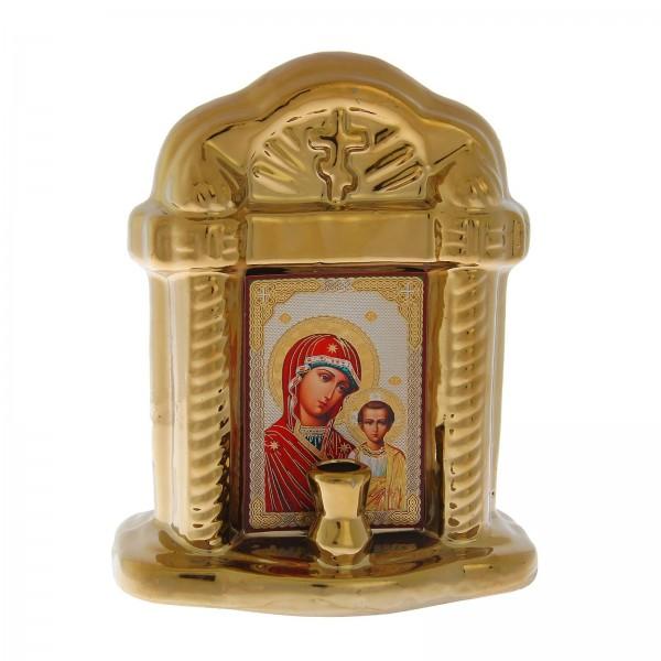 Киот с подсвечником Божией Матери «Казанская»