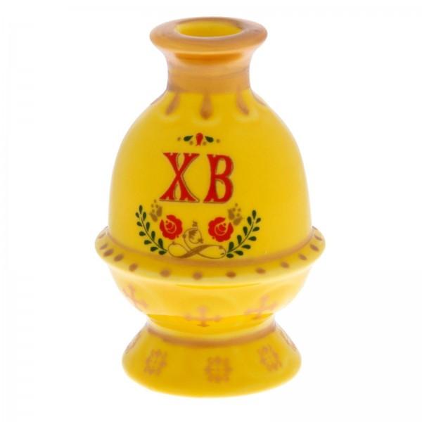 """Подсвечник """"Яйцо"""", Х.В. желтый"""