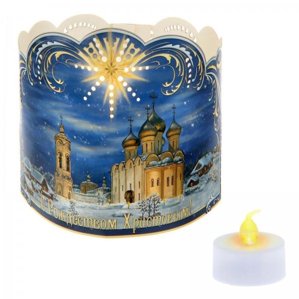 """Подсвечник """"Храм"""" со светодиодной свечой"""