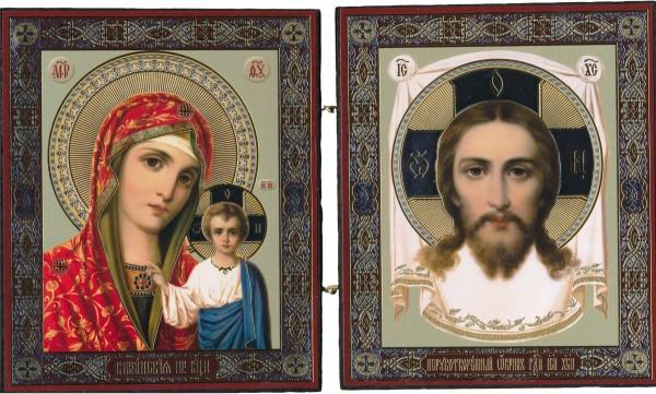 Икона Божией Матери Казанская и Спас Нерукотворный
