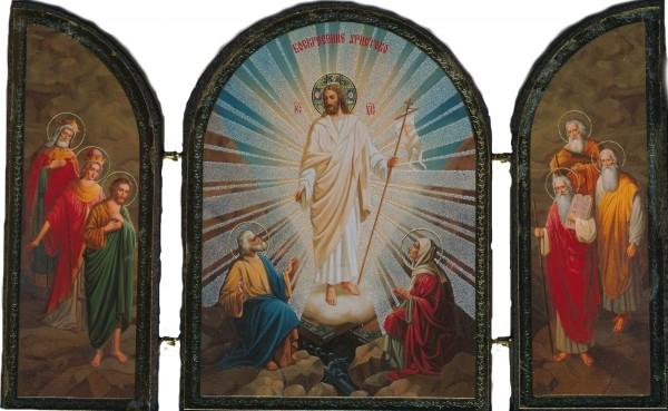"""Икона-складень """"Христос Воскресе!"""""""