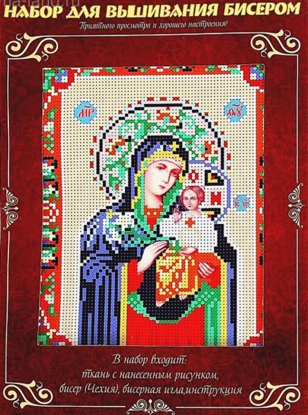 """Набор для вышивания бисером """"Пресвятая Богородица Неувядаемый Цвет"""""""