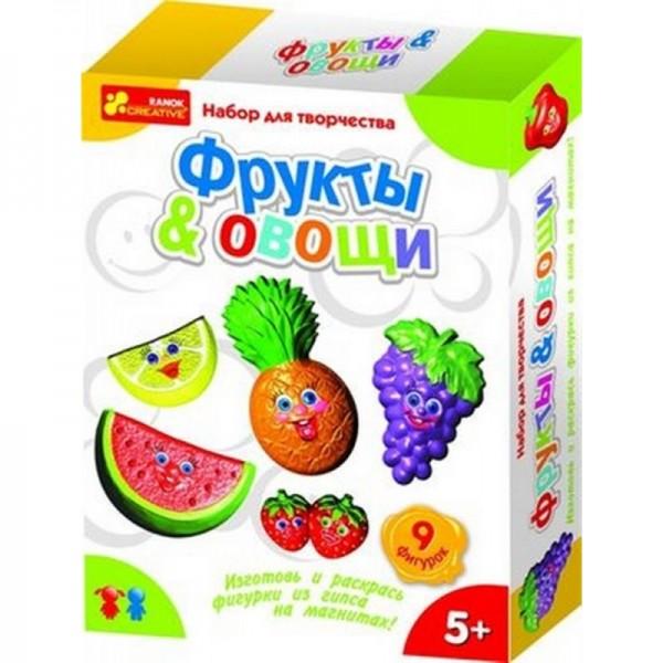 Магниты из гипса своими руками. Овощи и фрукты