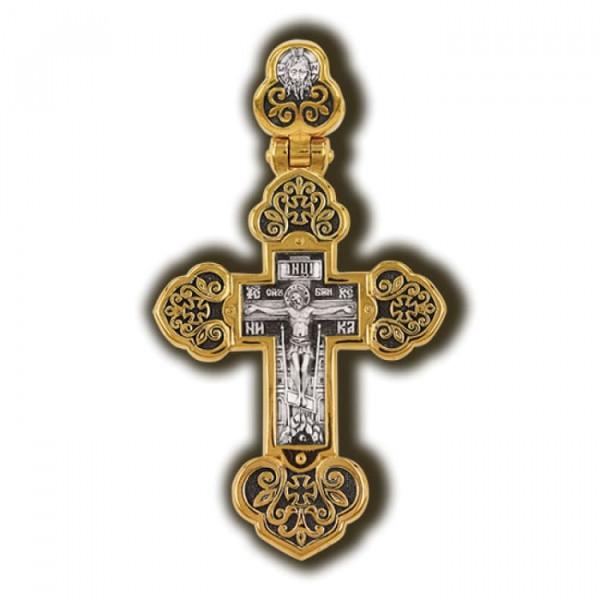 Православный крест: Распятие Христово. Ангел-Хранитель.